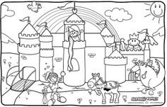 Princess and Knight Coloring Page by Scribble Town!, via Flickr