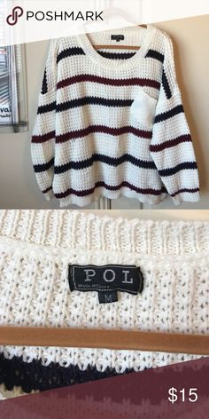 POL stripe sweater size medium POL stripe sweater size medium. Good condition. No holds or trades. ❤❤❤ POL Sweaters Crew & Scoop Necks