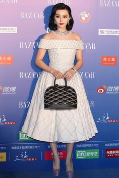 Fan Bingbing // Ralph & Russo couture // vintage-inspired fashion // Harper's Bazaar China