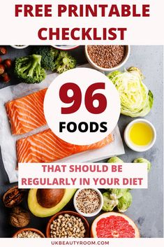 Make sure you are eating these 96 foods at least once a month. Eating the right food helps you loose weight. This list can be used for clean eating and will include recipe ideas, for dinner, breakfast, easy, lunch, on a budget, snacks, or vegan meals. Ideas for what to take to work, for kids, for college students, desserts, fitness inspiration, salad prep, for weightloss, protein bowls, smoothies, gluten free, on the go, quick tips, for skin, menu for winter, for summer, for teens, for…