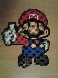 Mario -- perler beads