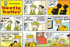 Beetle Bailey Comic Strip for November 2014 Beetle Bailey Comic, Mort Walker, Comedy Comics, Robert Crumb, Comics Kingdom, Old Comics, Calvin And Hobbes, American Comics, Funny Cartoons