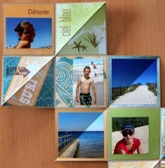 "DIY Scrapbooking ""Mini album pliable"" - How to make a small photo album"