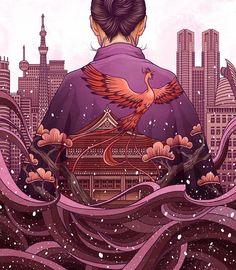Une sélection des superbesillustrations de l'artiste japonais Yuta Onoda, qui mélange style personnel et inspirations traditionnelles dans ses créations é