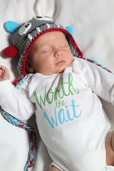 Coming Home Outfit, Take Home Outfit, Hospital Outfit, Worth the Wait Baby Onesie, Cute Baby Onesie by LittleAdamandEve,