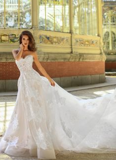 Courtesy of Victoria Soprano Wedding Dresses The One Collection; Wedding dress idea.