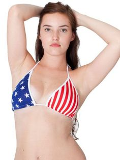 This American flag bikini is such a classic -- you can't go wrong with it!