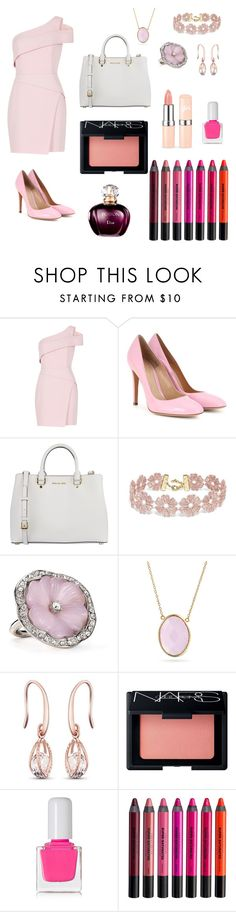 """""""First Date  Squeeee ☺"""" by chocolate-zebra ❤ liked on Polyvore featuring BCBGMAXAZRIA, Gianvito Rossi, MICHAEL Michael Kors, BaubleBar, Kenneth Jay Lane, Bling Jewelry, NARS Cosmetics, tenoverten and Urban Decay"""