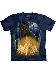 NEW NWT Lisa Parker Bewitched Mysterious Black Cat Halloween T-Shirt 2X