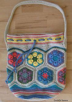 Ravelry: CordeliaSerene's African Flower Bag