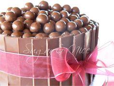 Jaqueline Wedding Cake  Cake decorated with Chocolate Shards and Cadbury Whispers