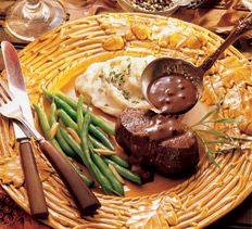 Venison Medallions with Cranberry Peppercorn Sauce North American Hunting Club Deer Recipes, Wild Game Recipes, Great Recipes, Holiday Recipes, Best Venison Recipe, Venison Recipes, Venison Meals, Venison Backstrap, Peppercorn Sauce