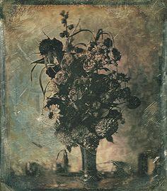 Daguerreotype: Bouquet of flowers, 1845