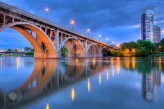 Broadway Bridge in Saskatoon, Saskatchewan: The City of Bridges - Scott Prokop on cutcaster.com