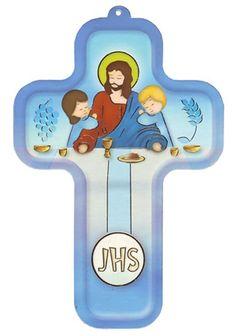 Cruz Jesús, niños y Primera Comunión