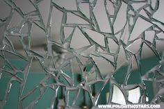 Polish The Stars: Shattered Mirror Art Glass Bottle Crafts, Glass Bottles, Mirror Art, Mirrors, Arctic Circle, Surrealism, Wall Decor, Crafty, Stars