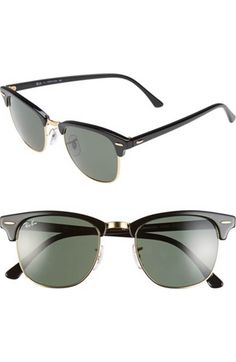 Free shipping and returns on Ray-Ban 'Clubmaster' 51mm Sunglasses at Nordstrom.com. A classic silhouette gets updated with purple color-pop coolness, styled with partial-rim frames that echo '50s browline styles.