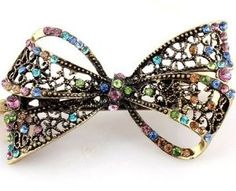 Amazon.com: Lovely Vintage Jewelry Crystal Bowknot Hair Clips Hairpins- For Hair Clip Beauty Tools: Beauty