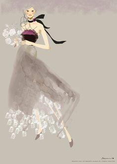 black&lace  #fashionillustration ©MayuminHosoya /mayumin.net