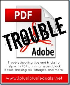 Troubleshooting tips for PDF Printing and downloading problems.