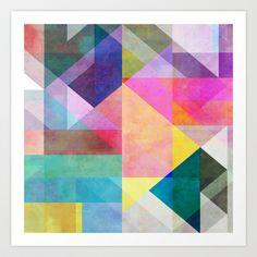 Color Blocking 2 Art Print by Mareike Böhmer Graphics