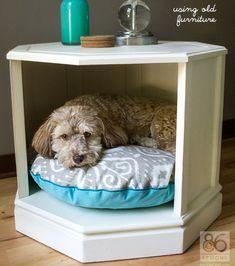 Idées pour faire niche et couchette d'intérieur pour animaux domestiques.