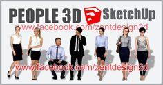 PEOPLE 3D SketchUp Part. 4