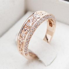 """Rose Gold Diamond Wedding Band Half Eternity Engagement Band Filigree Wedding Diamond Ring - Camellia Jewelry - For That """"Yes"""" Moment Rose Gold Diamond Ring, Gold Diamond Wedding Band, Rose Gold Engagement, Engagement Bands, Diamond Bands, Gold Bands, Rose Gold Eternity Band, Solitaire Engagement, Alliance Or Rose"""