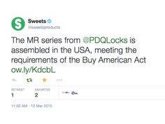 Thanks Sweets! #PDQLocks http://ow.ly/KdcbL