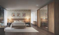 Qualidade em um quarto para casal com acabamento mdf