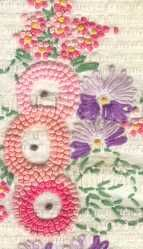 Beautiful French Knot stitching on a coverlet