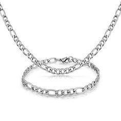 "Men/'s 316L Stainless Steel  Chain Necklace Mesh 20 4//8/"" A7"