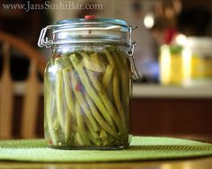 Dilly Beans. These crisp, spicy and tangy naturally pickled green beans make a delicious and nutritious snack.