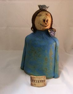 Ceramic Sculpture Friends by MuddyRiverClay on Etsy