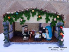 Con hilos y a lo loco: Portal de Belén Crochet Christmas Trees, Christmas Nativity Scene, Holiday Crochet, Felt Christmas Ornaments, Christmas Knitting, Christmas Angels, Christmas Holidays, Christmas Decorations, Crochet Toys Patterns