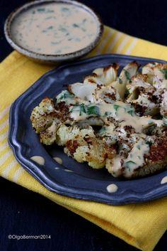 Za'atar Roasted Cauliflower With Tahini Sauce