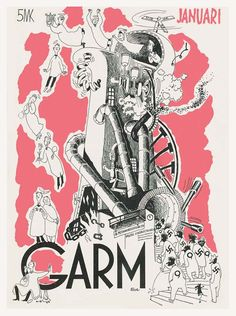 Cover of Garm magazine. Cover art by Tove Marika Jansson Moomin Shop, Tove Jansson, Magazine Design, Cover Art, Animation, Comics, History, Illustration, Books