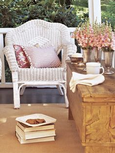 Sweet and simple  Outdoor Decorating Ideas – Guide to Decorating Outdoors - Country Living
