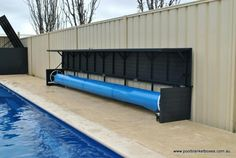 For quality custom made pool blanket boxes & pool storage boxes throughout Perth & Australia, contact Pool Blanket Boxes on 9250 6872 for a quote Backyard Pool Landscaping, Pool Fence, Pvc Pool, Pool Gazebo, Pool Storage Box, Storage Boxes, Storage Sheds, Pool Cover Roller, Hidden Pool