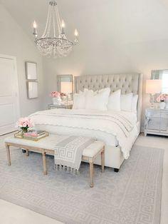 Room Ideas Bedroom, Home Decor Bedroom, White Bedroom Decor, Bedroom Inspo, Bed Rooms, Bedroom Decor Glam, Couple Bedroom Decor, Bedroom Ideas Master For Couples, White Gold Bedroom
