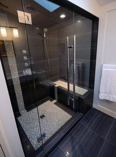 61 Best Stunning Modern Bathroom Shower Design Ideas - Page 44 of 63 Modern Bathroom Tile, Bathroom Design Luxury, Bathroom Tile Designs, Modern Bathroom Design, Small Bathroom, Master Bathroom, Bathroom Ideas, Shower Designs, Shower Ideas