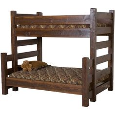 Twin Over Queen Bunk Bed - For more Awesome Bunk Bed Ideas take a look at HomeIZY.com!
