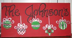 for teacher....have kids sign their names on the ornament's and put teacher's name above