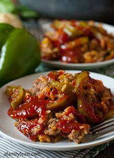 Deconstructed Stuffed Peppers - The delicious flavors of a classic stuffed pepper recipe without all of the fuss! A hearty and super flavorful dinner is ready in about 40 minutes!