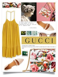 """""""Presenting the Gucci Garden Exclusive Collection: Contest Entry"""" by meleuterio ❤ liked on Polyvore featuring Gucci, MANGO, Charlotte Russe and gucci"""