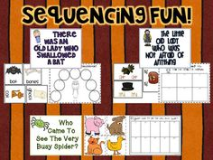 Sequencing activities for 3 fall read alouds UK-Eduacation Experiment Site @ http://www.smartyoungthings.co.uk