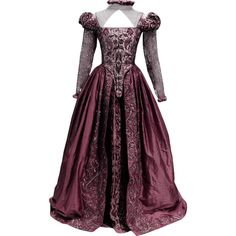 Shakespeare In Love Dress - edited by thestars-themoon ❤ liked on Polyvore featuring dresses, costume, gowns and purple dress
