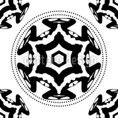 The Circle Of The Black Star by Matthias Hennig available as a vector file on patterndesigns.com