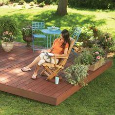 Backyard Decks: Build an Island Deck. Create a comfortable retreat anywhere in your yard.
