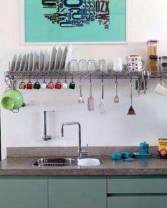 """444 curtidas, 5 comentários - DIY Home 🏡 (@diyhomebr) no Instagram: """"Que tal essa inspiração  para turbinar sua cozinha? Fonte: @casaejardim #decor #decoração…"""""""